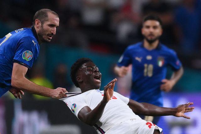 Chiellini in Italia Inghilterra, finale di Euro 2020