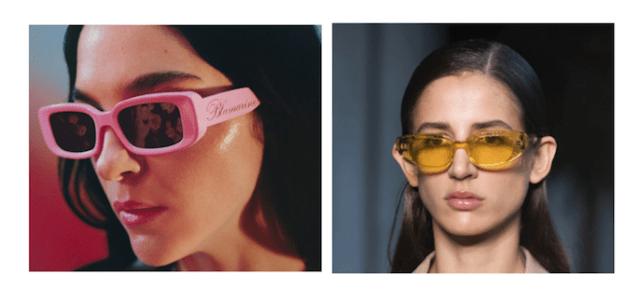 occhiali sorbetto dalle sfilate