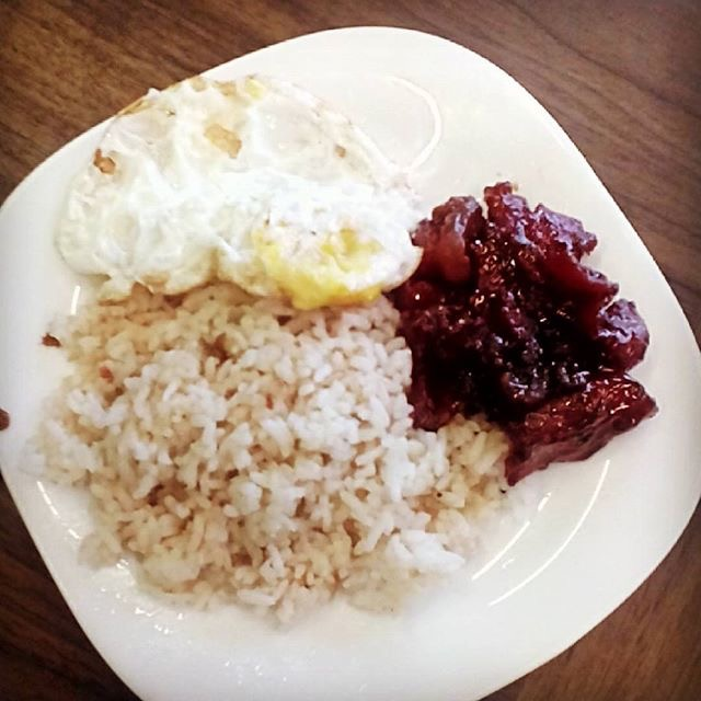 Tocilog Filipino Breakfast Combo Of Eggs Rice And Tocino