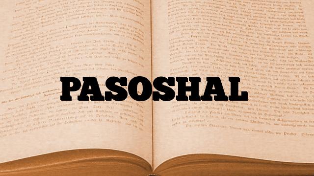 PASOSHAL