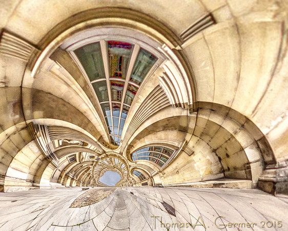 The Cour Carrée of the Louvre, a stereographic projection