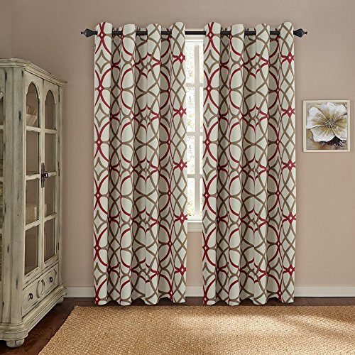 H.VERSAILTEX Thermal Insulated Blackout Grommet Curtain Drapes for ...