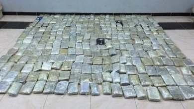 صورة ضبط أكثر من طن لمادة الحشيش وحوالي 400 ألف قرص امفيتامين المخدر