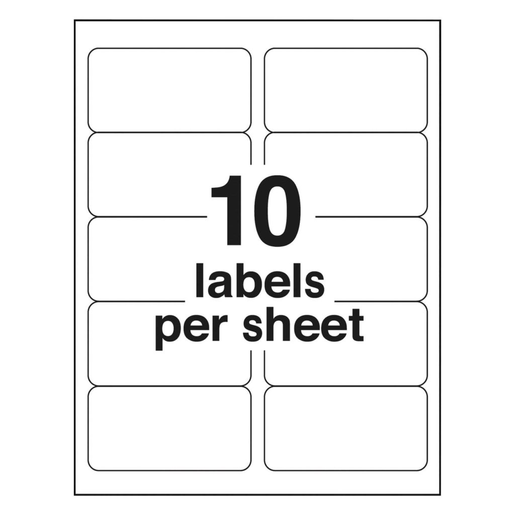 4 Labels Per Sheet Template and 2 X 4 Label Template Best Business Template