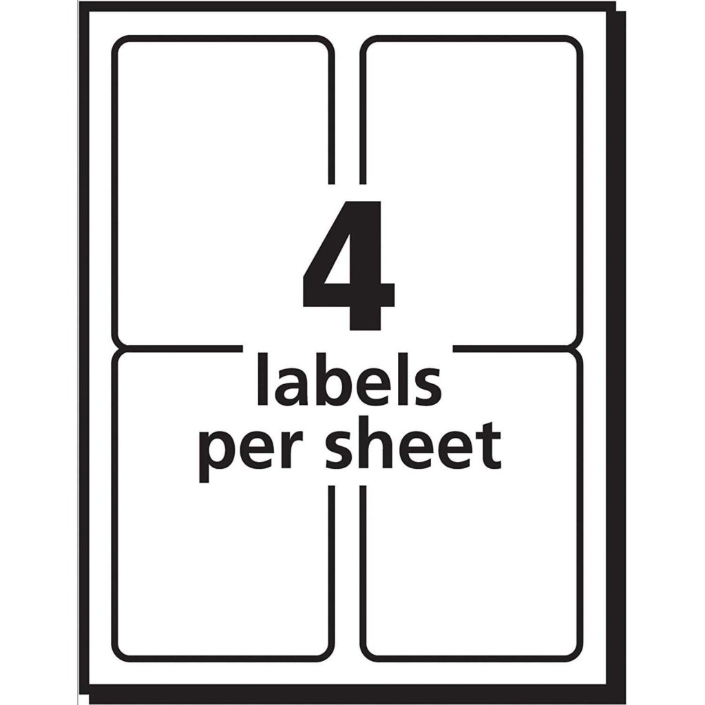 4 Labels Per Sheet Template and Avery Postage Meter Labels 1 1 2 X 2 3 4 Pack Of