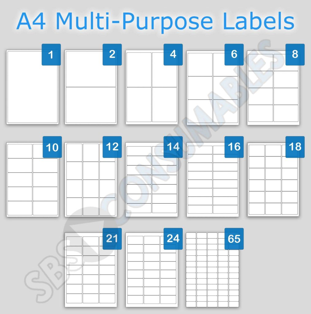 4 Labels Per Sheet Template and Printable White Sticky Address Labels Office Supplies Uk