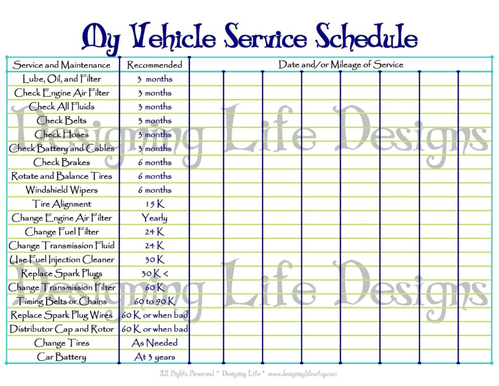 Auto Maintenance Spreadsheet and Auto Maintenance Schedule Spreadsheet asepag Spreadsheet