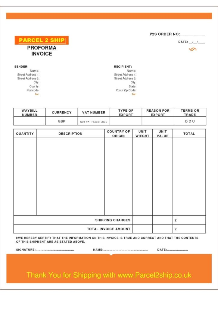 Auto Repair Bill Template and Printable Invoice Template Your sourche for Printable Invoice