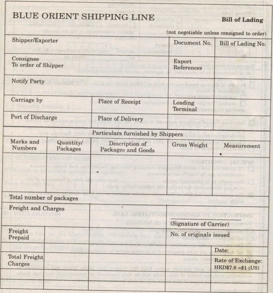 Auto Transport Bill Of Lading Template and Simple topic April 2012