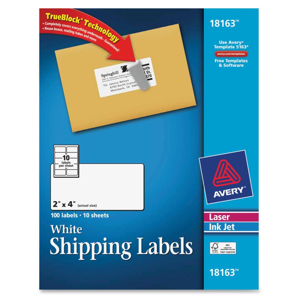 Avery 60 Labels Per Sheet Template and Avery Laser Inkjet Printer Shipping Labels Permanent