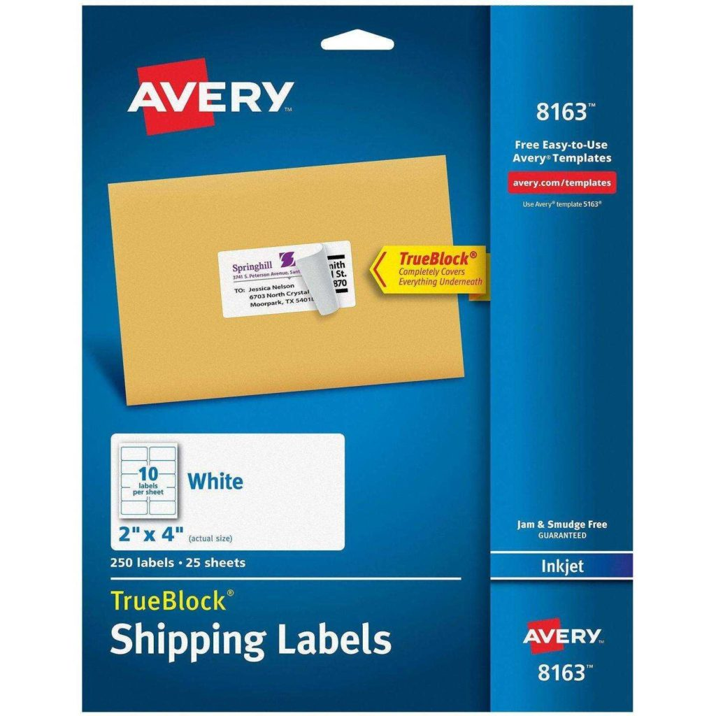 Avery 60 Labels Per Sheet Template and Avery White Shipping Label 60 Pk Walmart