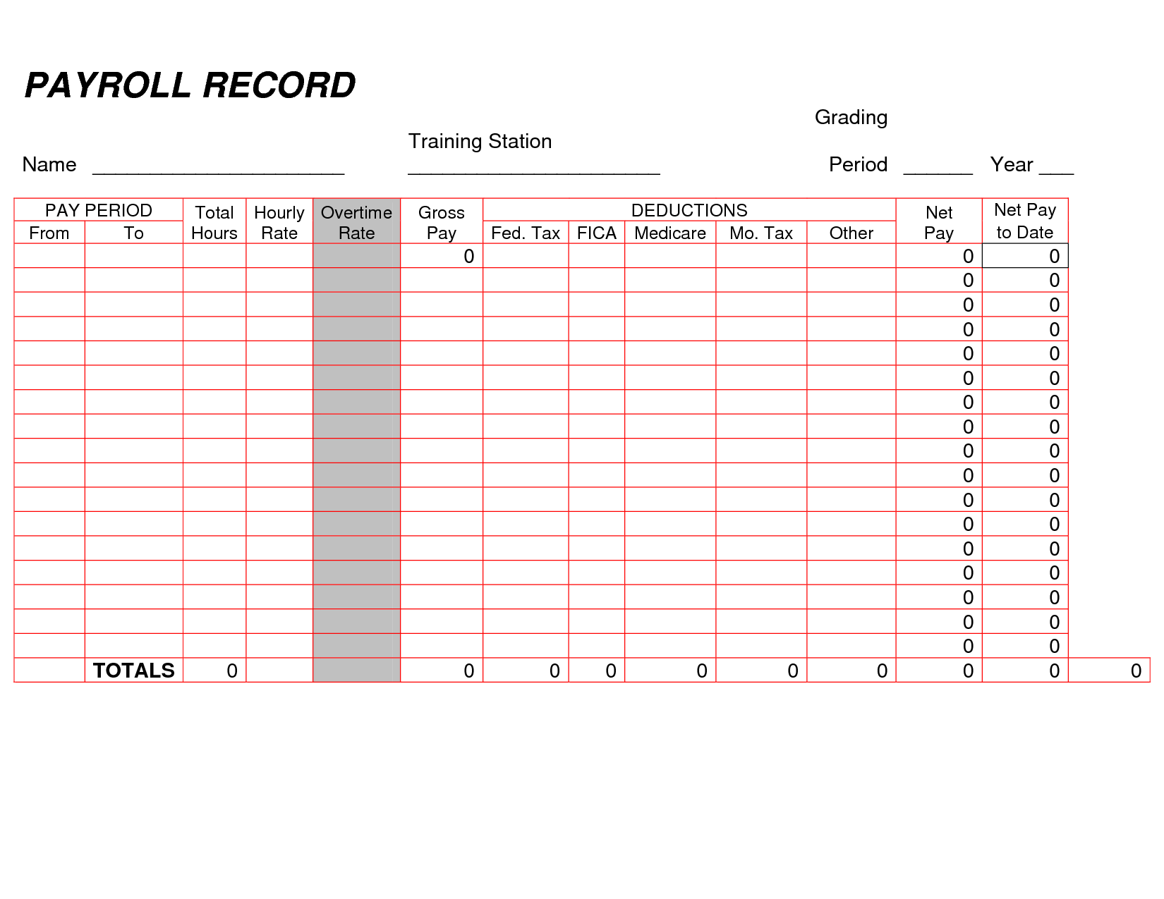 Bill Ledger Template and Printable Payroll Ledger Blank Payroll Record Pdf Things to