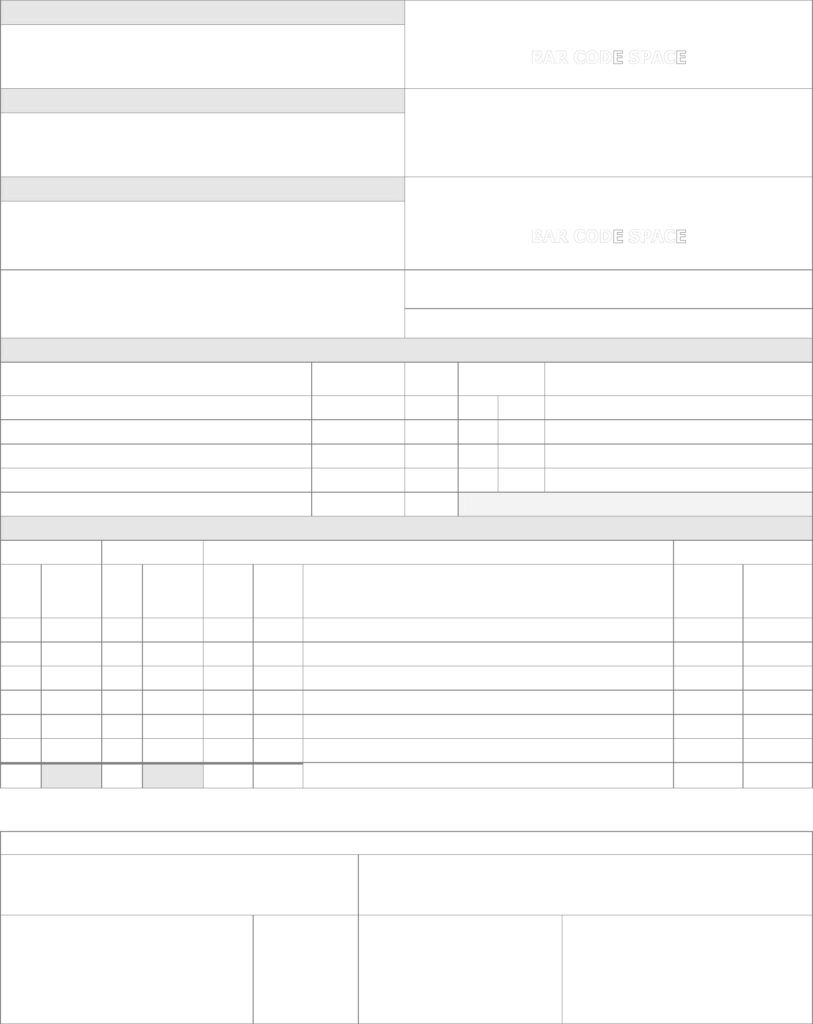 Bill Of Lading Template Free Download and Bill Of Lading form Sample Free