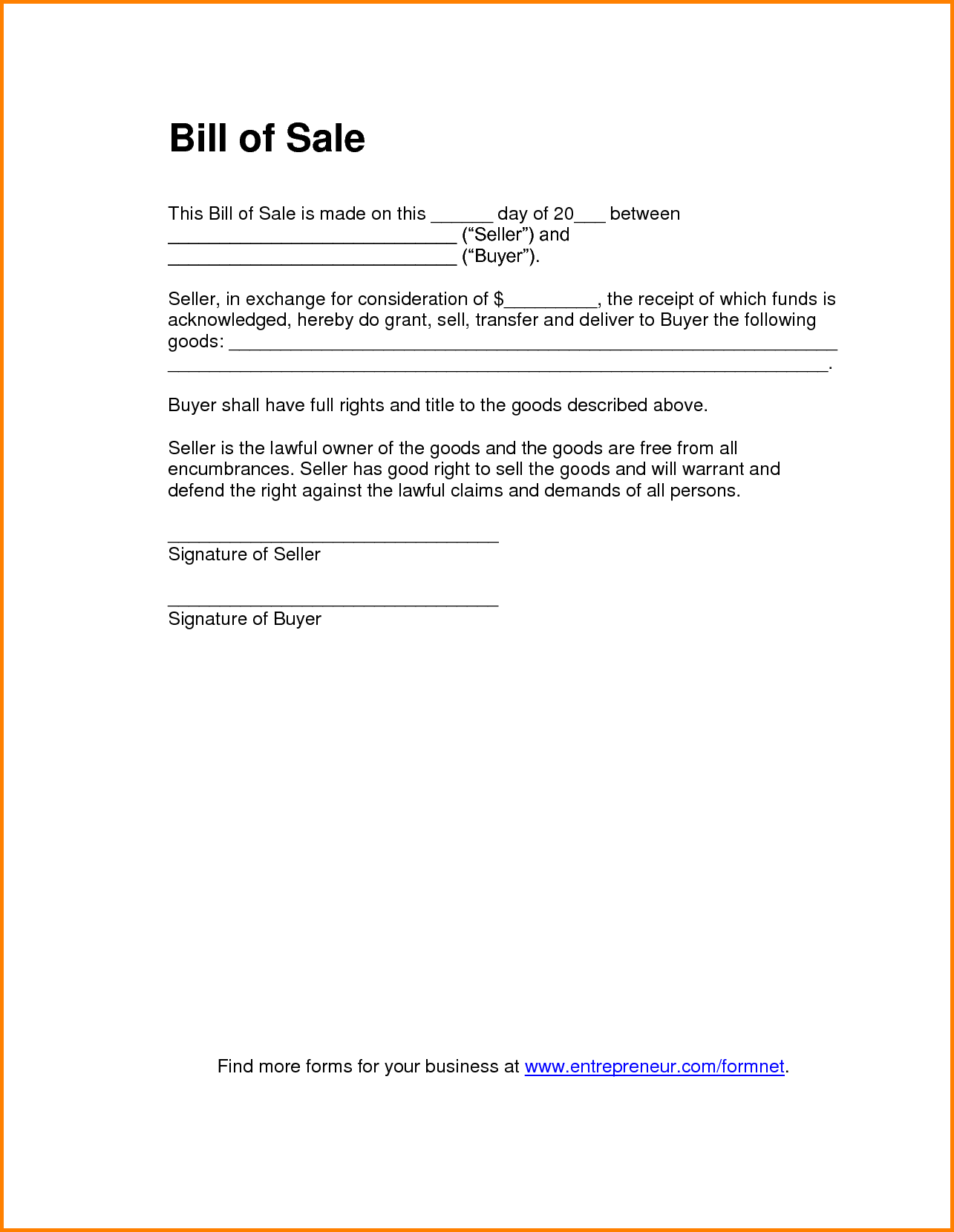 Bill Of Rights Template and 11 Bill Of Sale Template Pdf Letter Template Word
