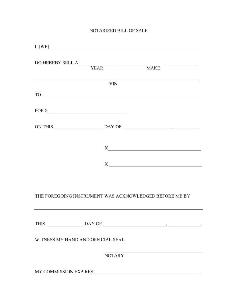 Bill Of Sale Agreement Template and 45 Fee Printable Bill Of Sale Templates Car Boat Gun Vehicle