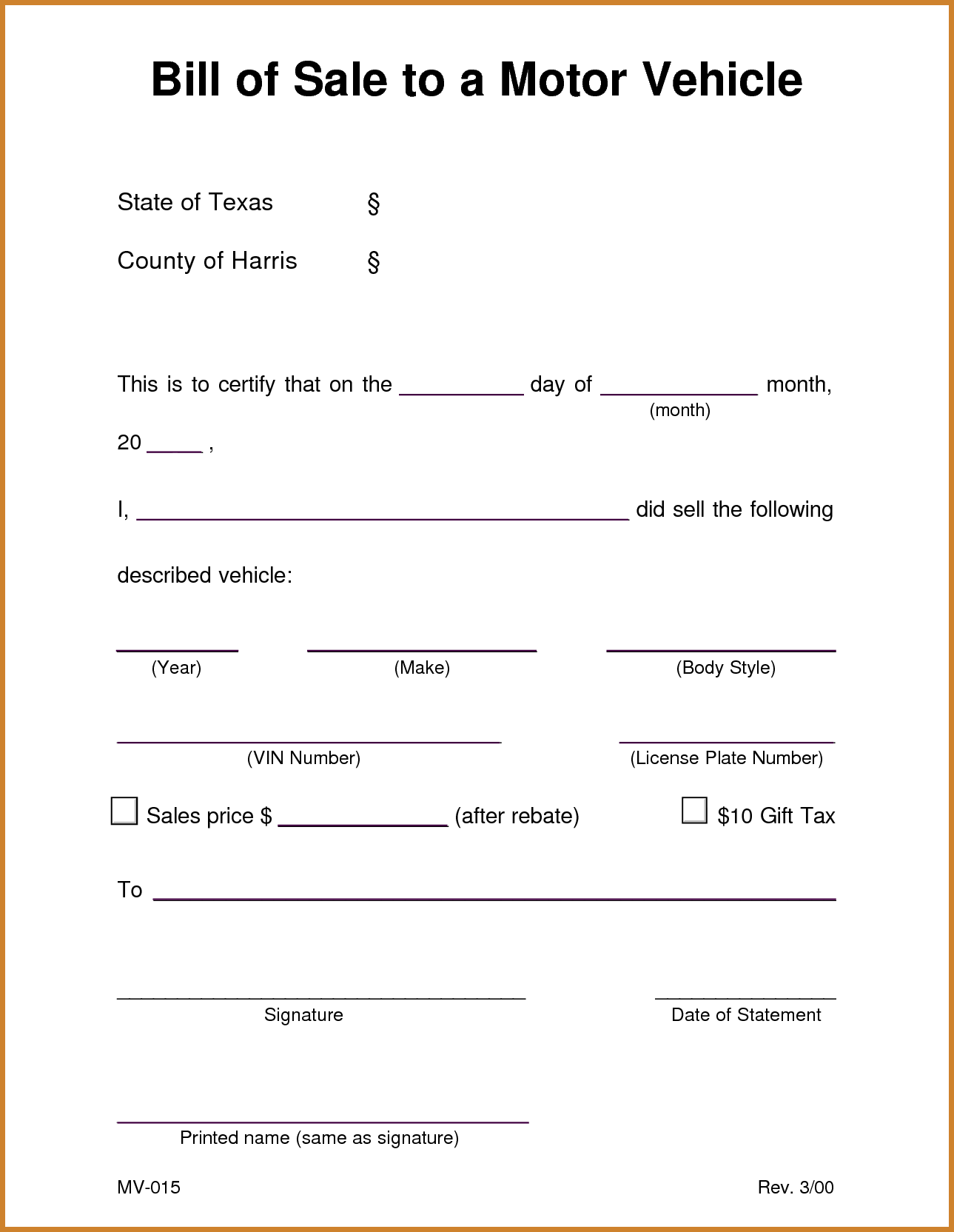 Bill Of Sale for Car Template and Sample Bill Of Sale for Car Notary Letter