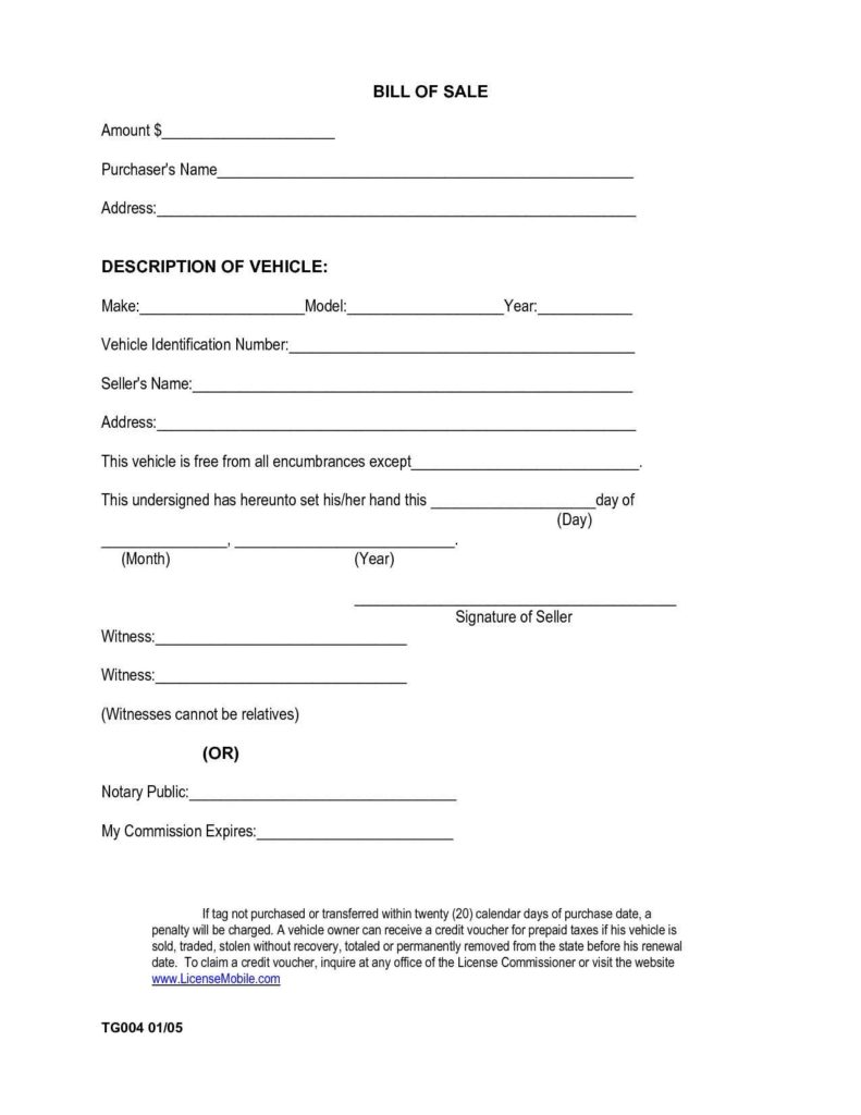 Bill Of Sale Template Alabama and Free Automobile Bill Of Sale Template Teerve Sheet