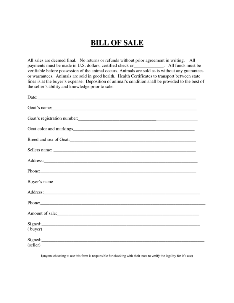 Bill Of Sale Template for atv and Best Photos Of Easy Printable Bill Of Sale Free Printable Blank
