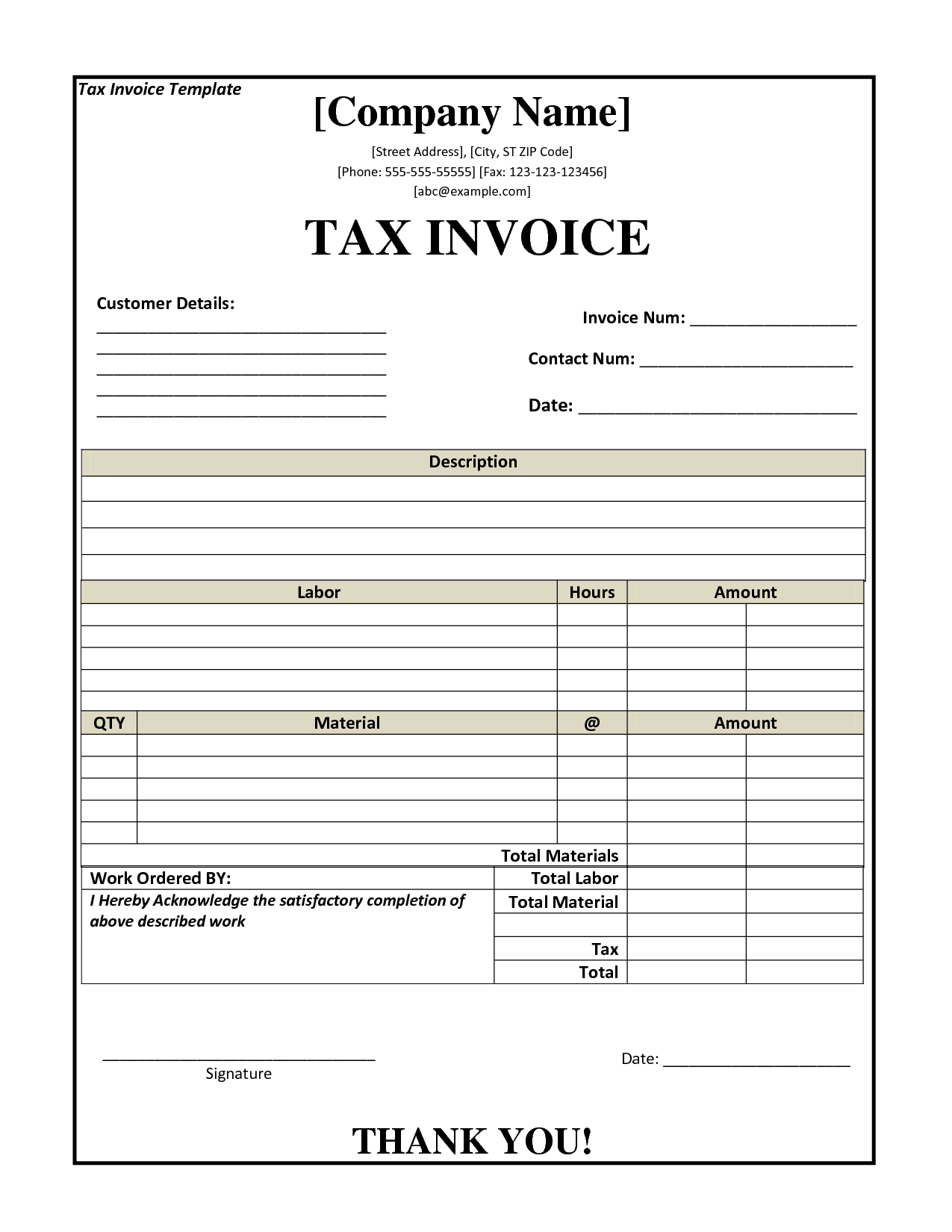 Billing Invoice Template Pdf and ato Tax Invoice Template Invoice Example