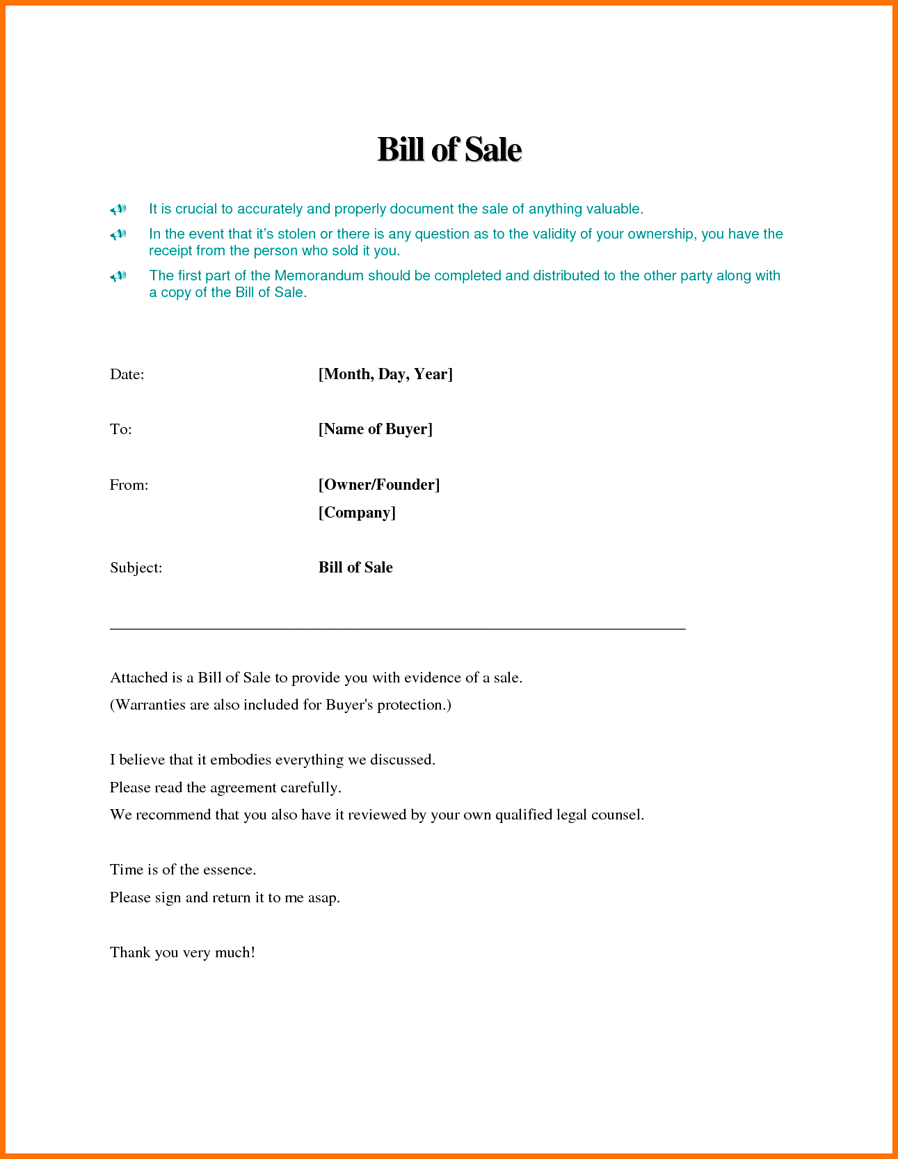 Business Bill Of Sale Sample and Bill Of Sale Template Word Example Masir