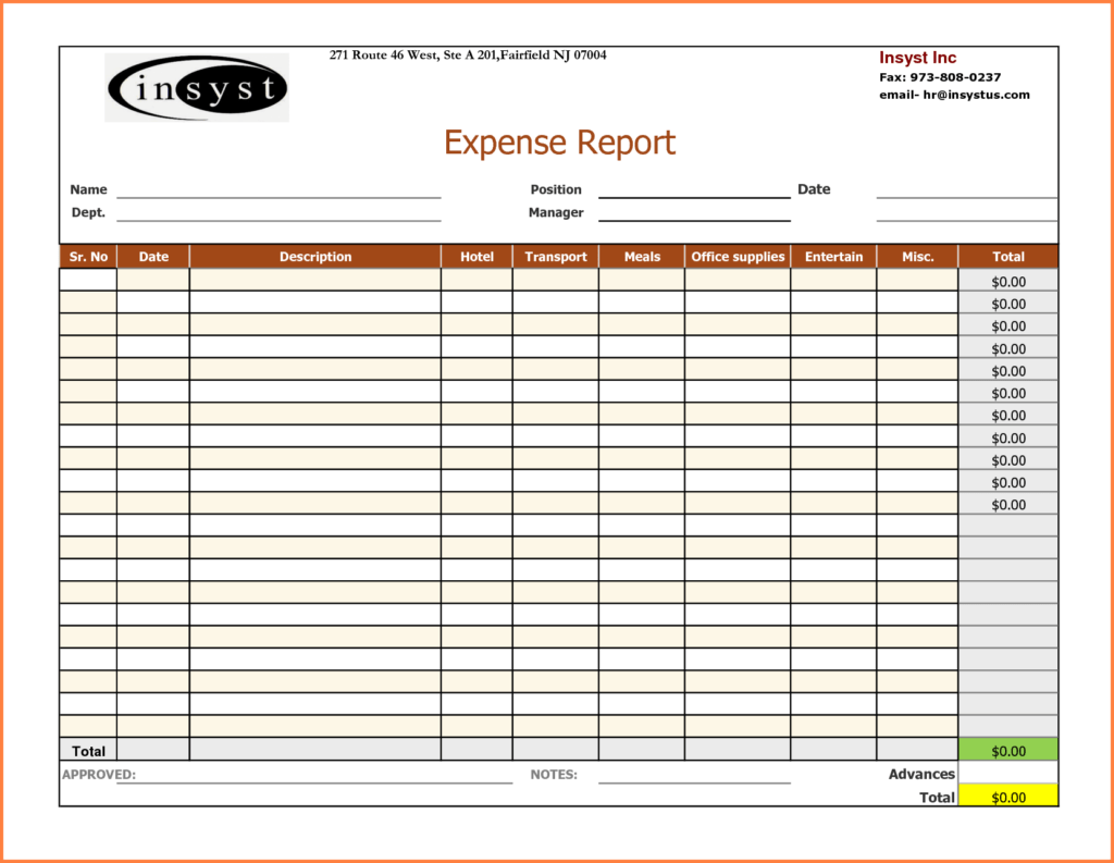 Business Expenditure Spreadsheet and 6 Expense Report Spreadsheet Template Excel Spreadsheets Group