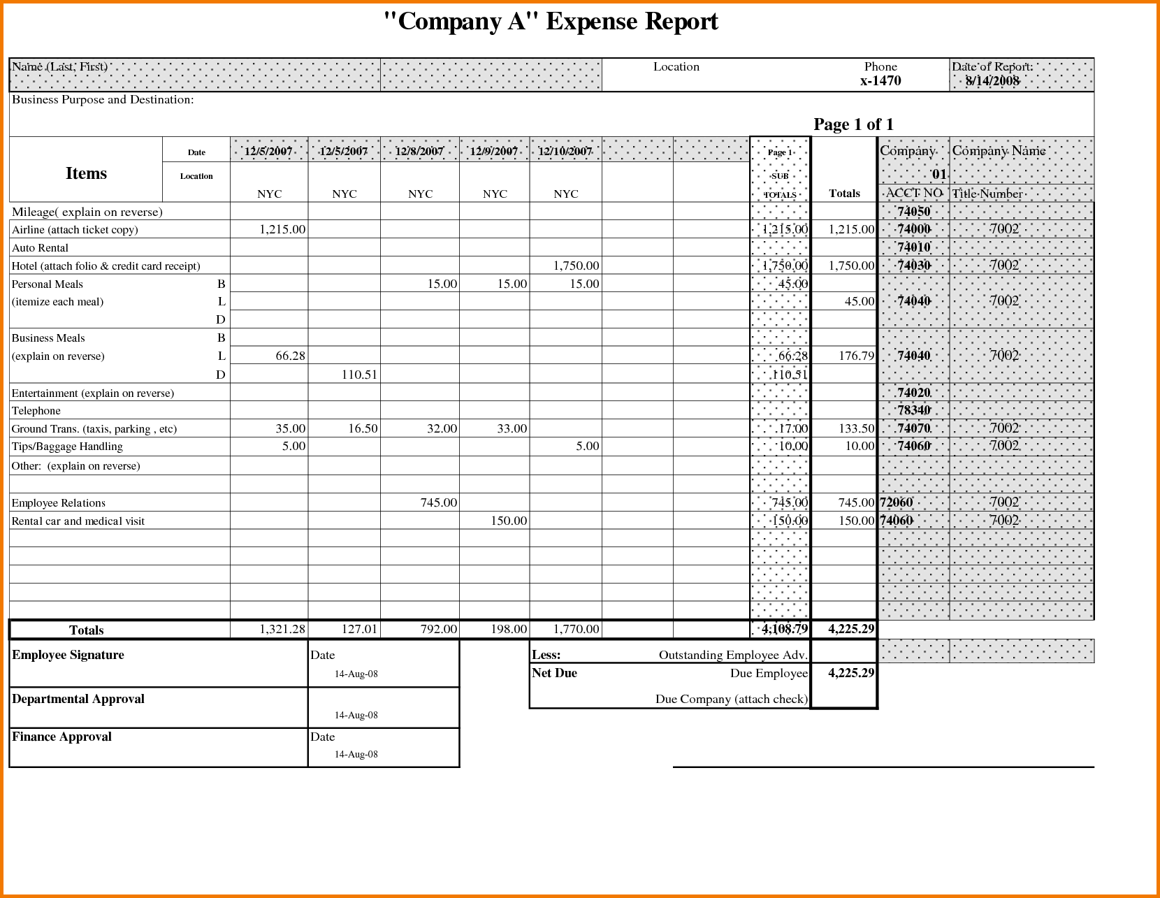 Business Expense Report Template Excel and 5 Expense Report Excel Expense Report