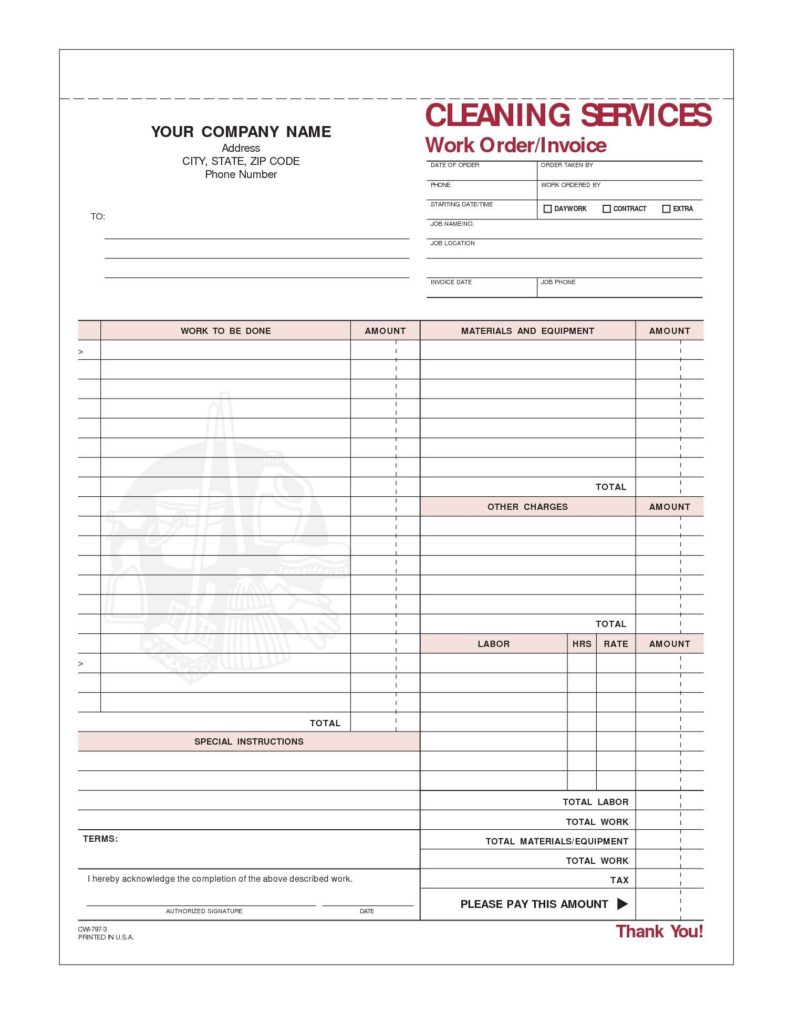 Carpet Cleaning Invoice Sample and Cleaning Service Invoice Template Invoice Template Ideas
