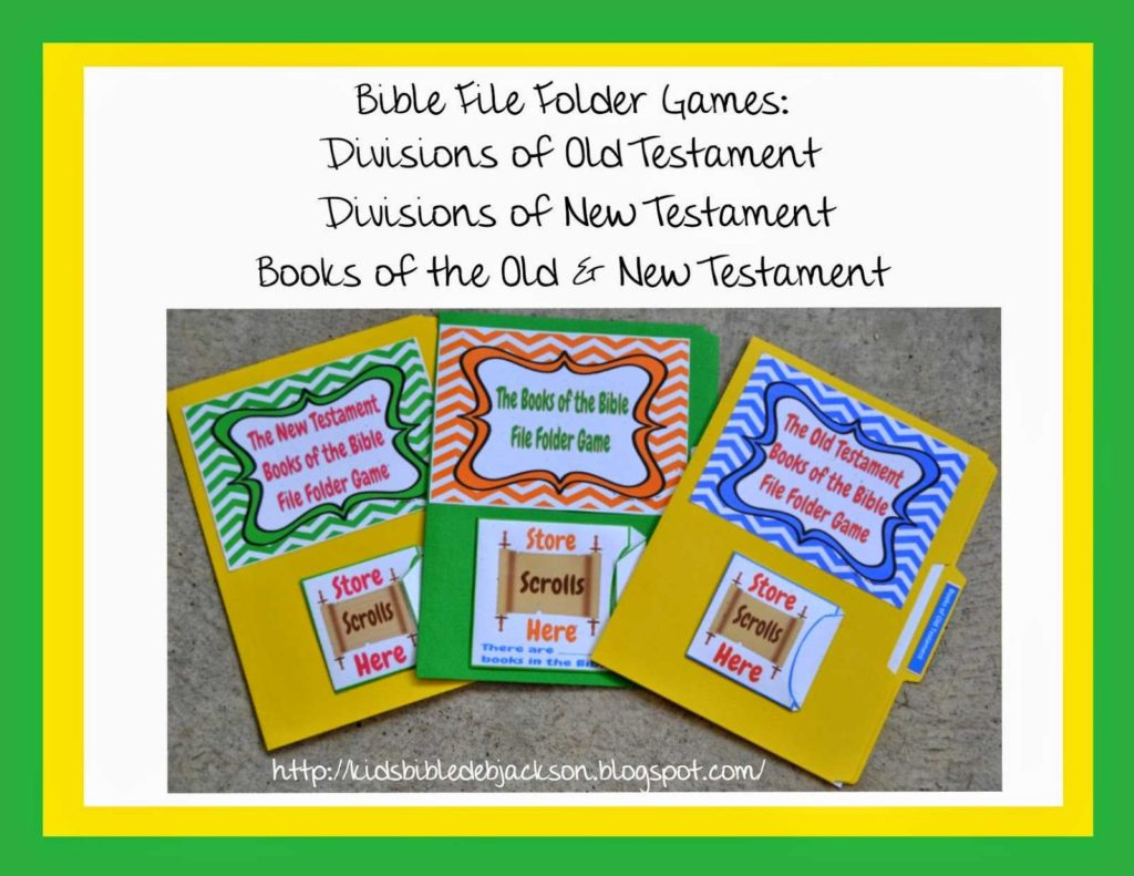 Children's Bible Study Worksheets and Bible Fun for Kids What is A File Folder Game