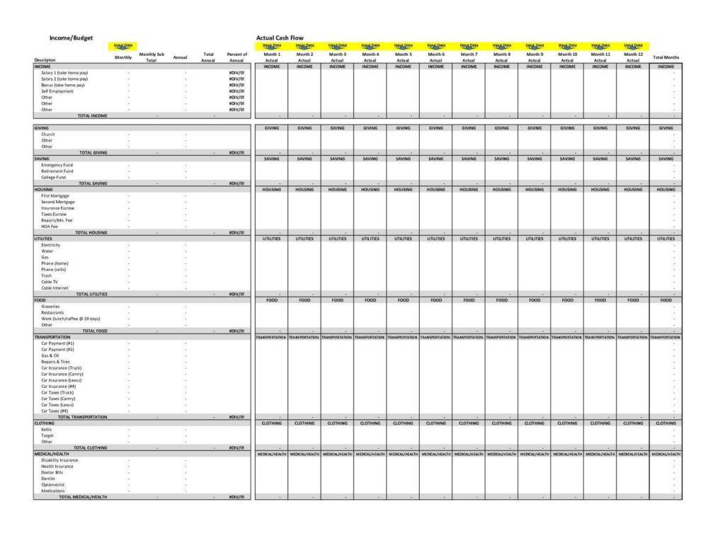 Church Budget Spreadsheet and Small Church Bud Sample Shaim Sheet