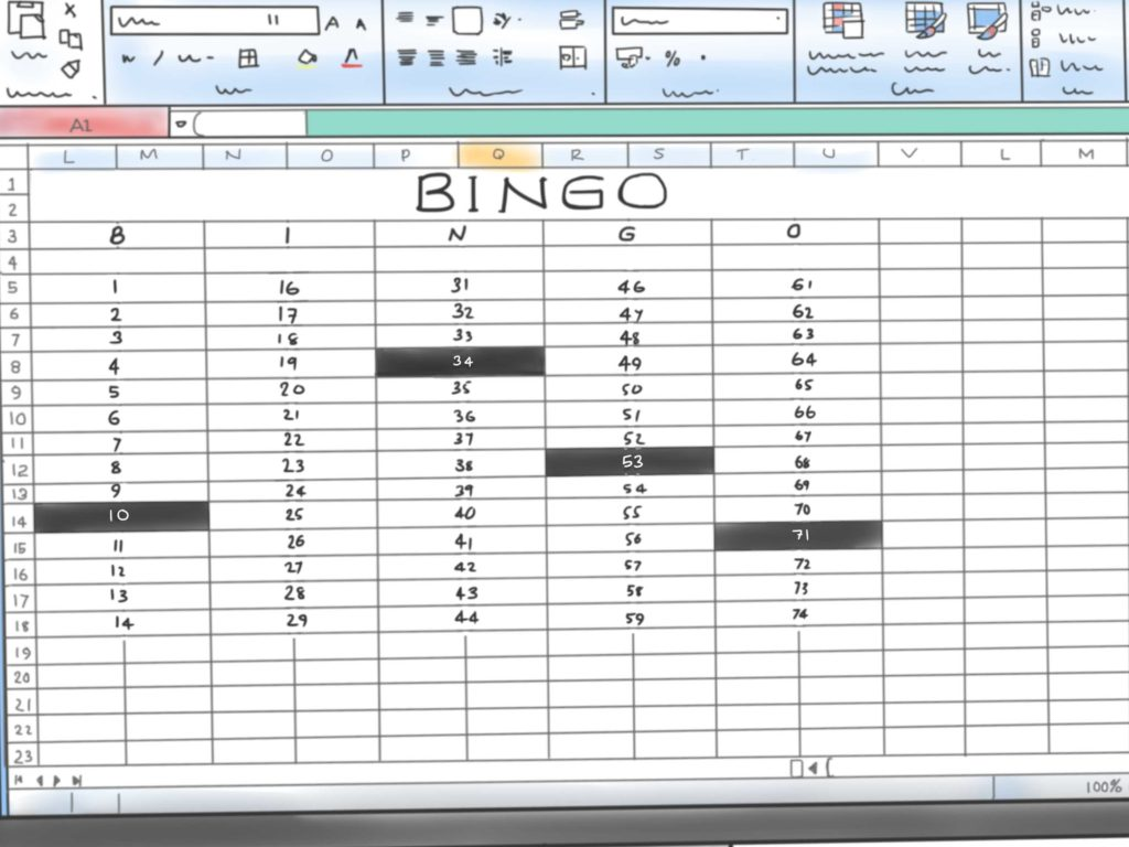 Components Of A Spreadsheet and How to Make A Bingo Game In Microsoft Office Excel 2007 9 Steps