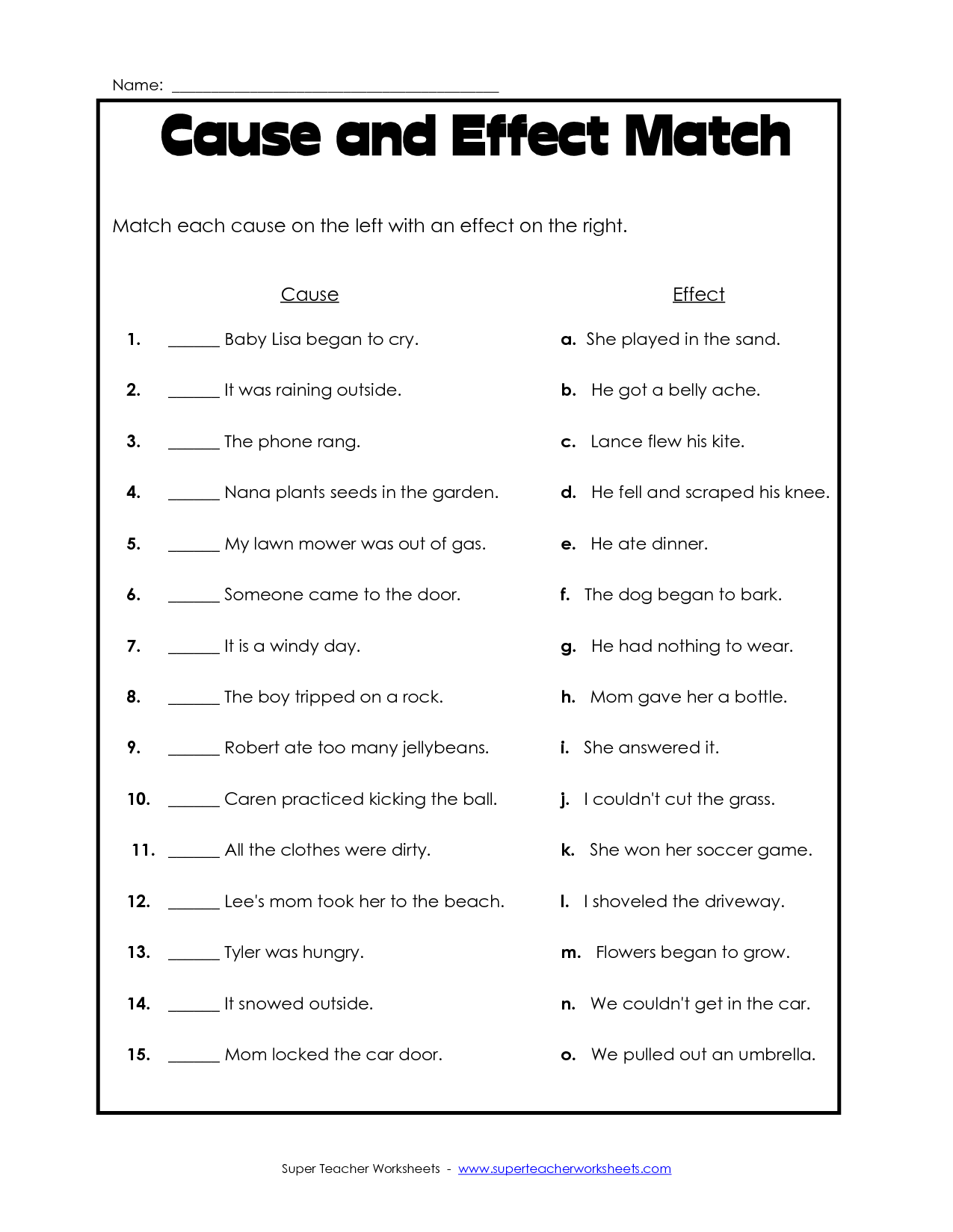Comprehension Worksheets For Grade 1 Free