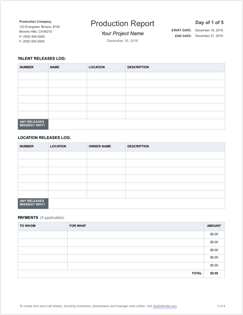 Construction Expense Report Template and Free Daily Production Report Template