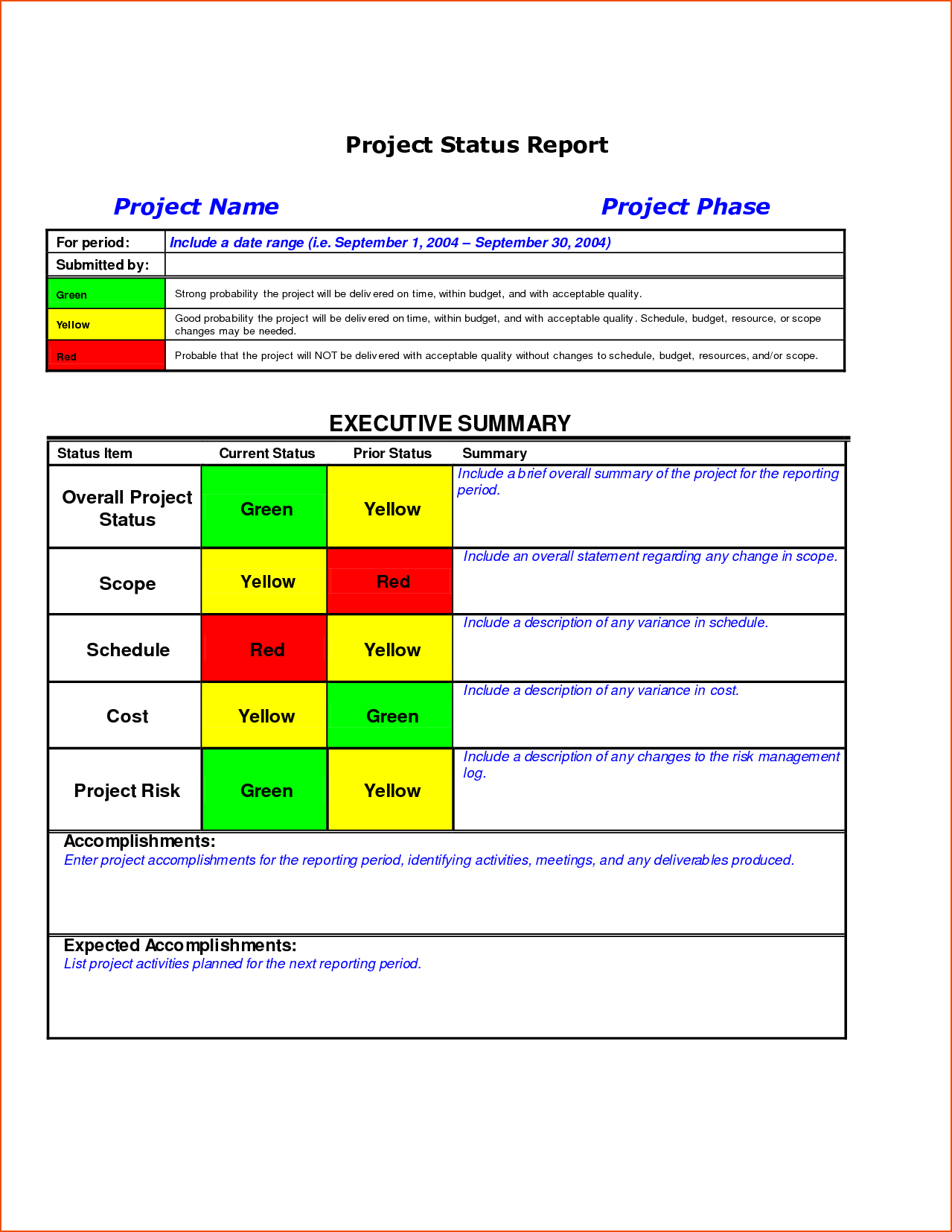 Construction Project Progress Report Template and 8 Project Status Template Bookletemplate