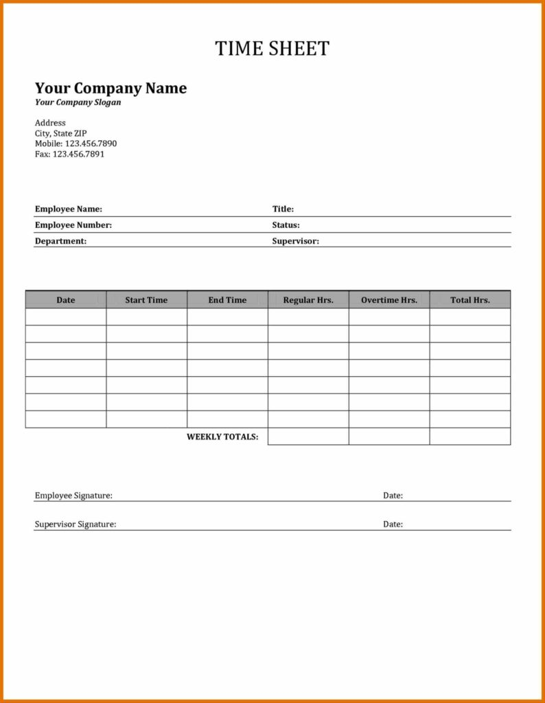 Construction Time Sheets Template and Sheet Template Tracking Excel Template Vosvetenet Construction
