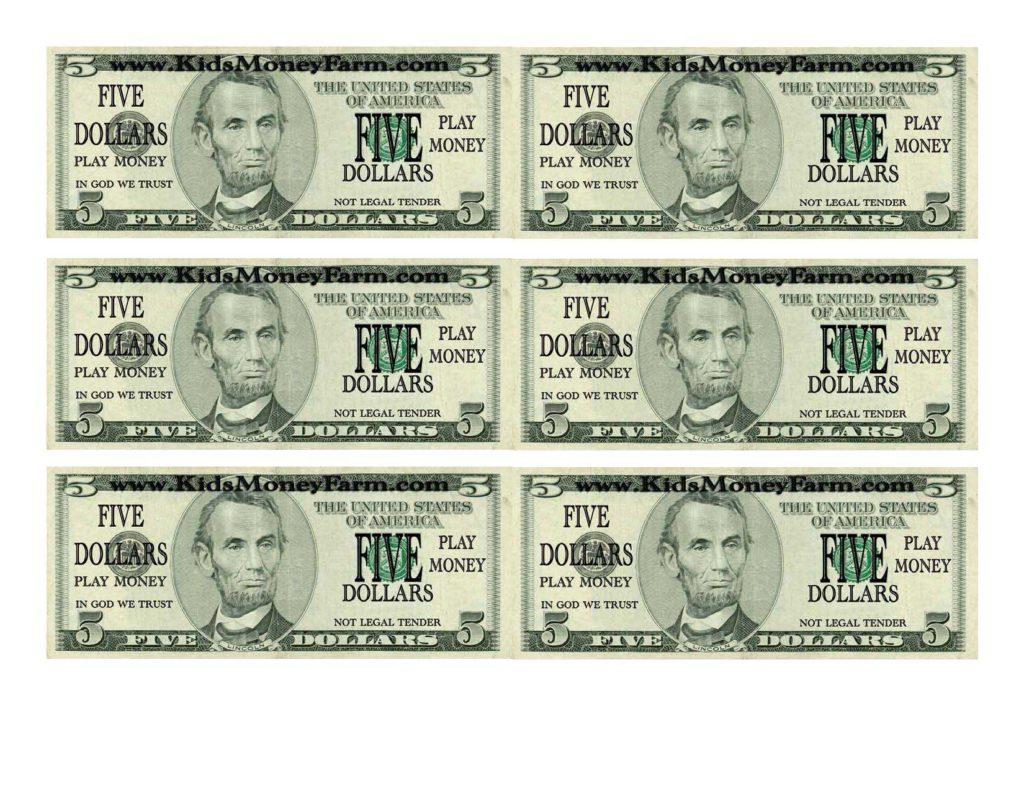 Adorable Printable 20 Dollar Bill