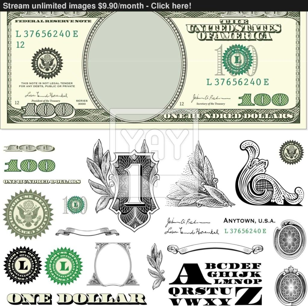 Dollar Bill Coupon Template and Blank Dollar Bill Clipart China Cps