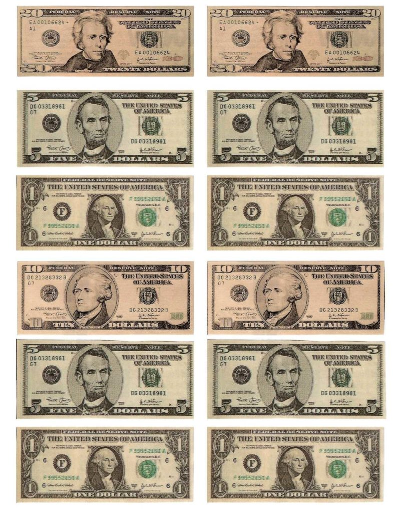 Dollar Bill Template for Teachers and Free Printable Money Shareit Pc