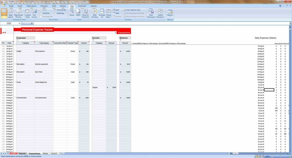 Download Expense Report Template and Free Expense Report Templates Smartsheet Free Expenses Spreadsheet
