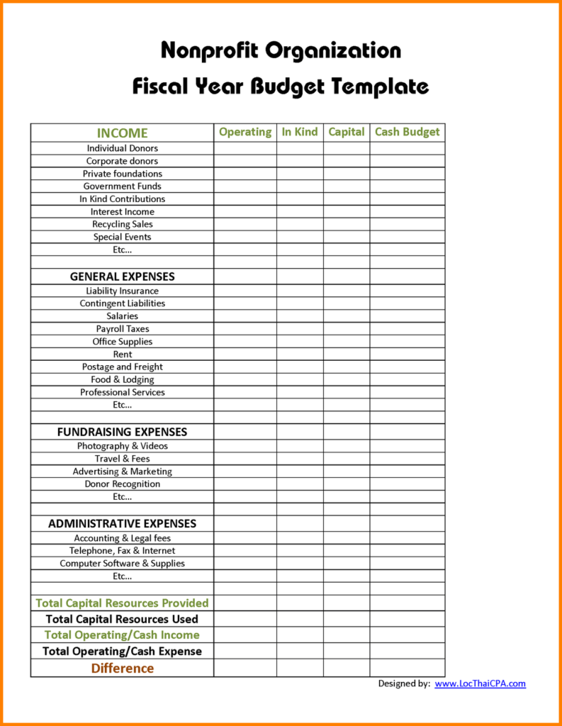 Downloadable Budget Worksheets and 9 Non Profit Bud Template Bud Template