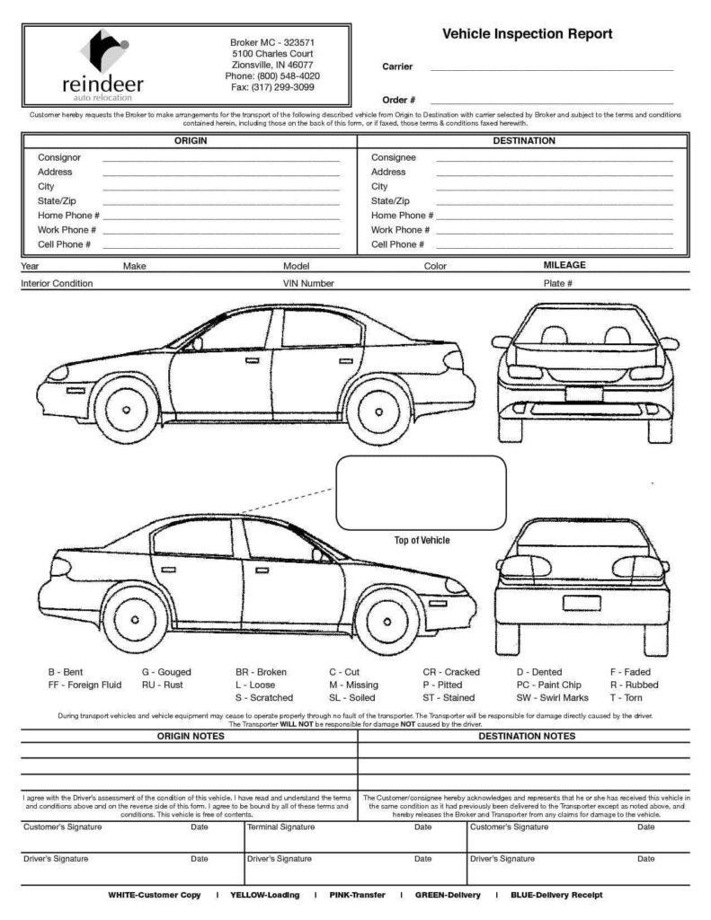 Driver Vehicle Inspection Report Template and Vehicle Inspection form Word and Driver Vehicle Inspection Report