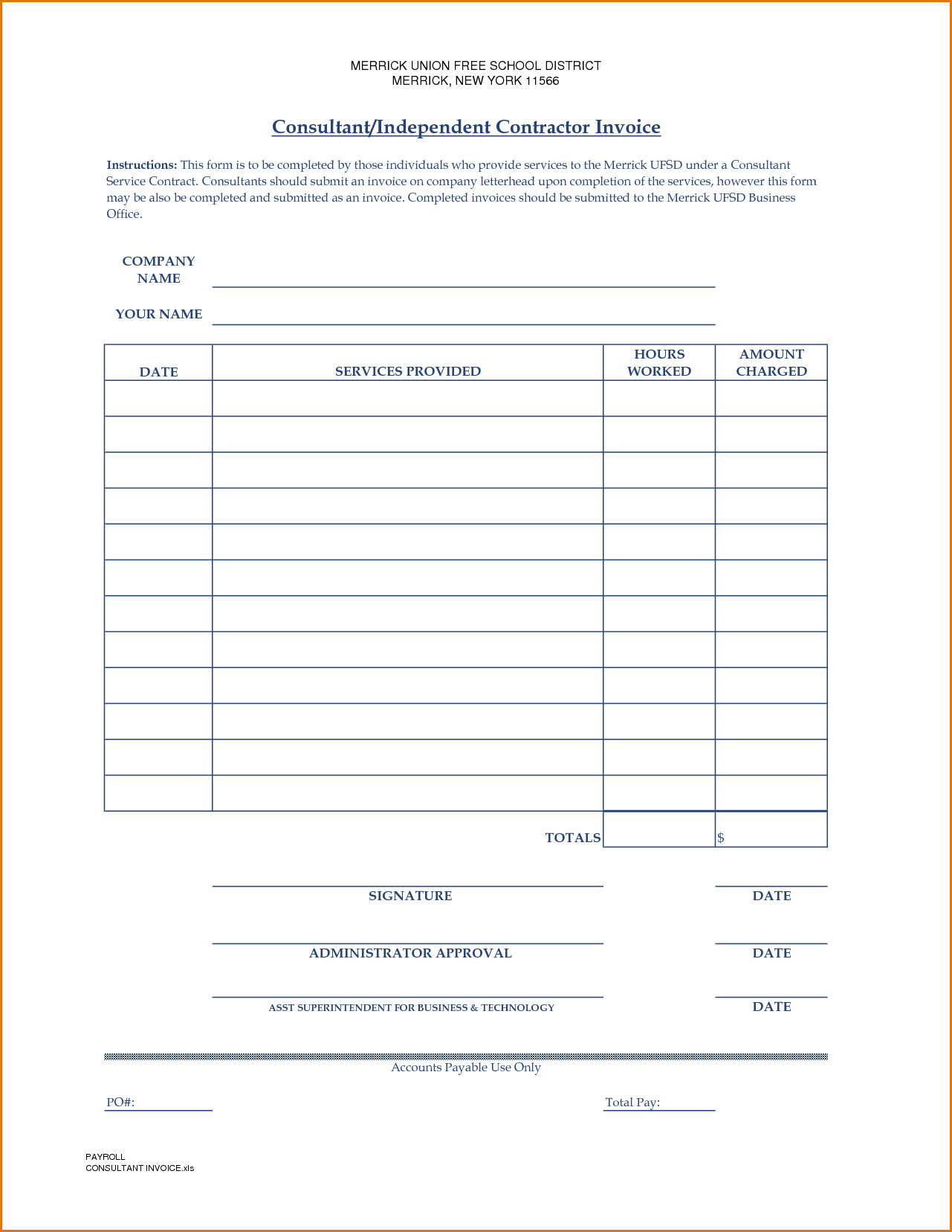 Electrical Contractor Invoice Template and Invoice Independent Contractor Invoice Template