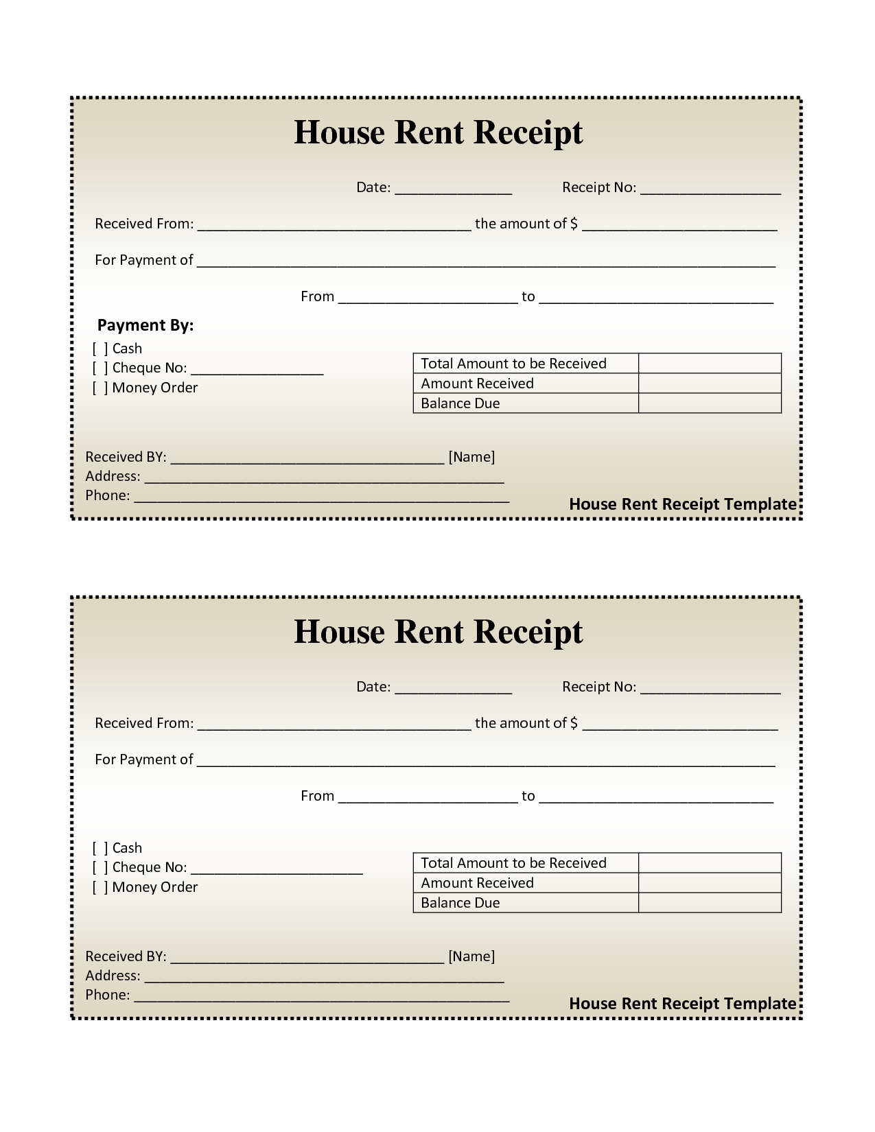 Electricity Bill Template and Free House Rental Invoice House Rent Receipt Template Doc