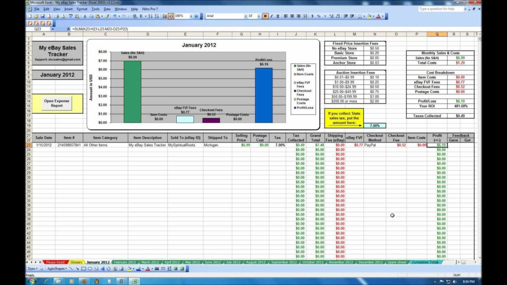 Employee attendance Tracking Spreadsheet and My Ebay Sales Tracker Spreadsheet Youtube Inside Safety Tracking Spreadsheet