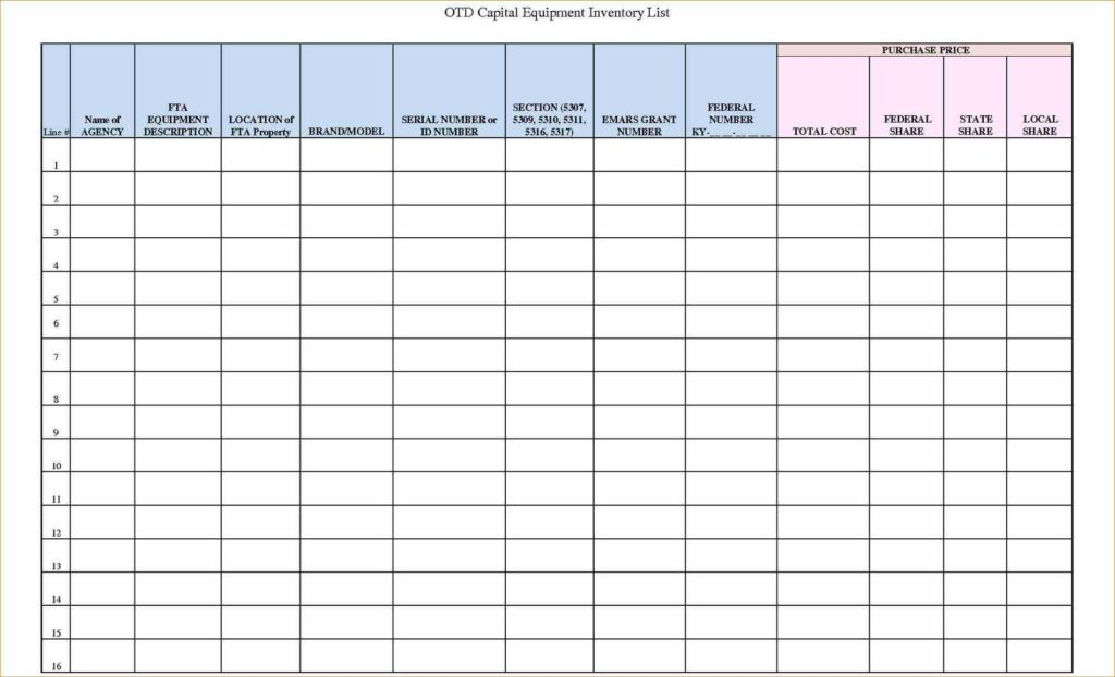 Equipment Tracking Spreadsheet and Free Inventory Spreadsheet Inventory Management Template Excel