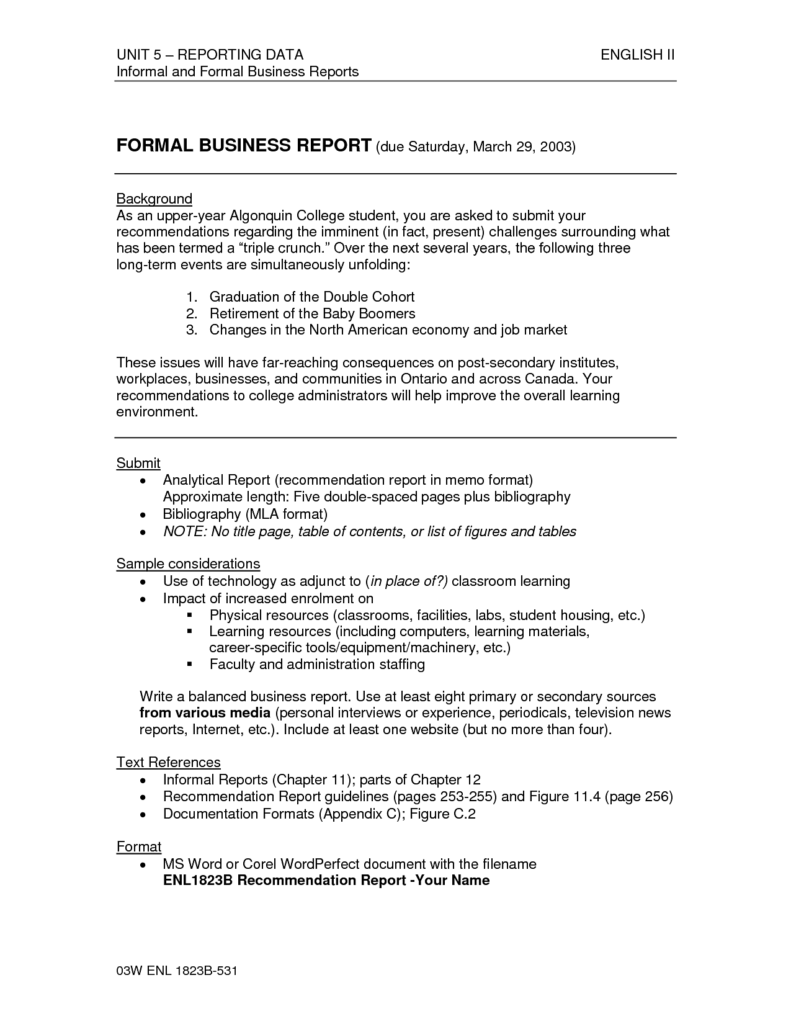 Example Of Data Analysis Report and Data Analysis Report Pdf Analytical Report Template Data