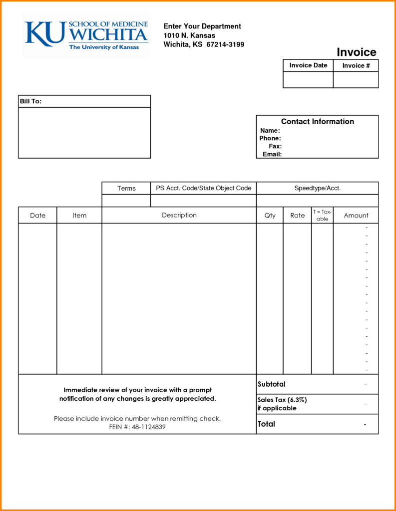 Examples Of Invoice Templates and Sample Invoice Bill Firmsinjafo