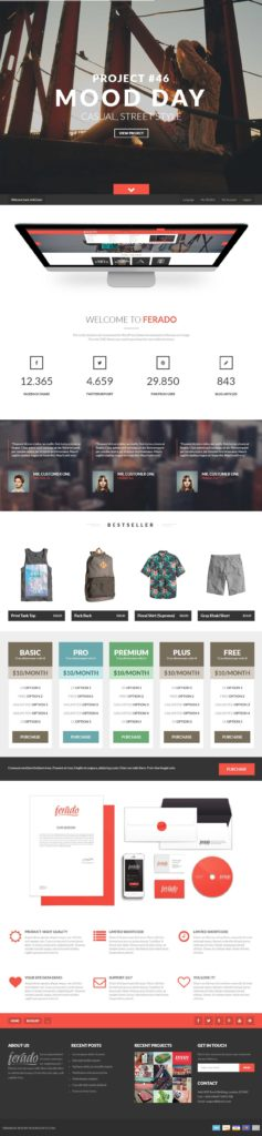 Expensive Website Templates and 40 Best Responsive Parallax Scrolling Website Template