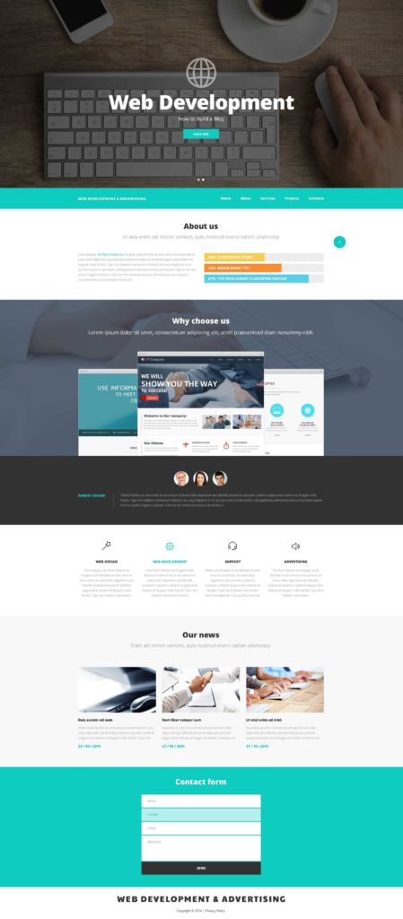 Expensive Website Templates and Web Design and Advertising Website Template