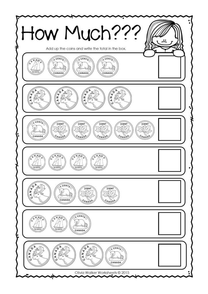 Financial Literacy Worksheets for High School and Canadian Money Worksheets Printables Kindergarten Grade One