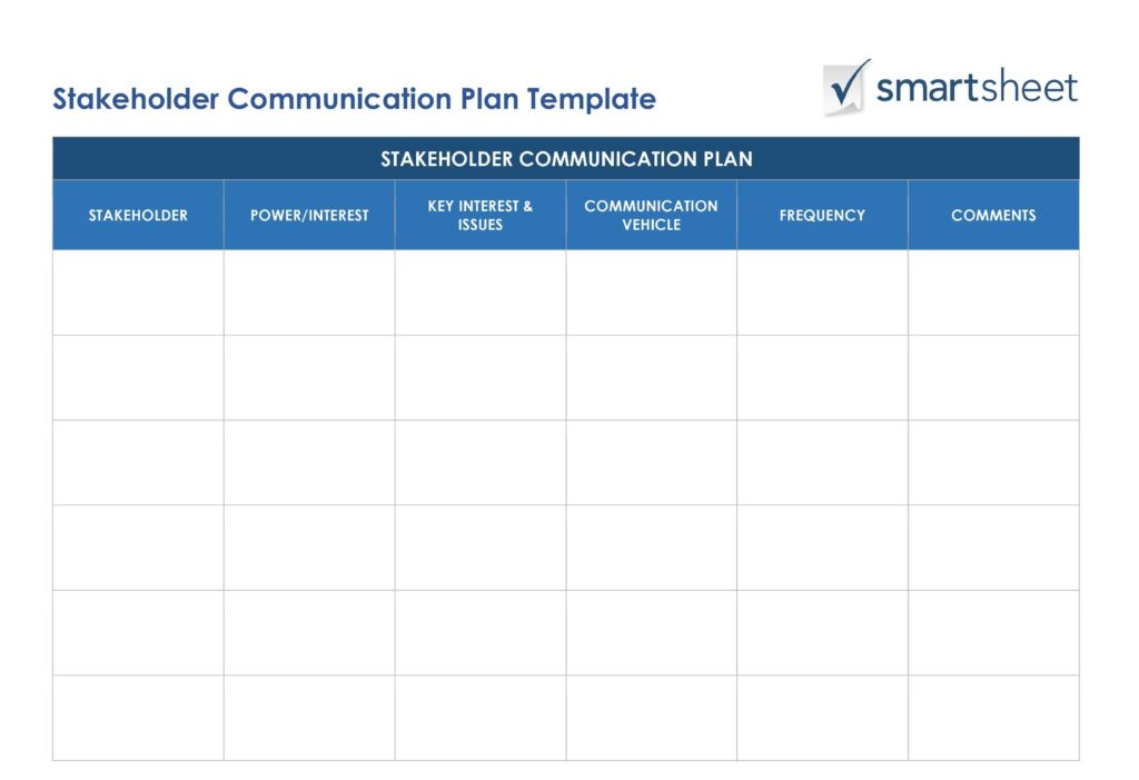 Financial Needs Analysis Worksheet and Free Stakeholder Analysis Templates Smartsheet